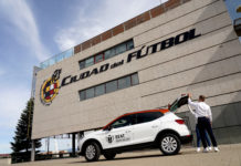 The cup will be transported in the boot of the world's first SUV to feature CNG