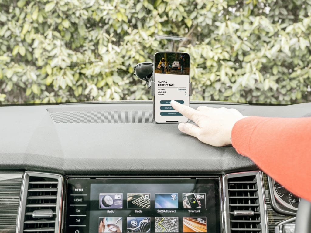 ŠKODA Launches 'Parent Taxi' App