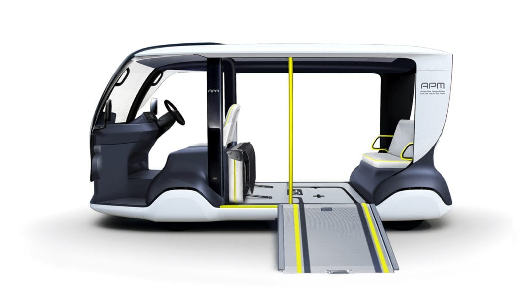 Toyota Develops Electric 'Accessible People Mover' for the Tokyo 2020 Olympic Games