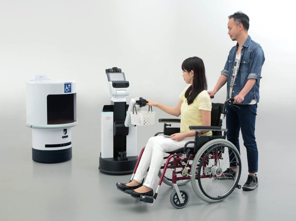 Toyota Unveils Robots to Support Mobility