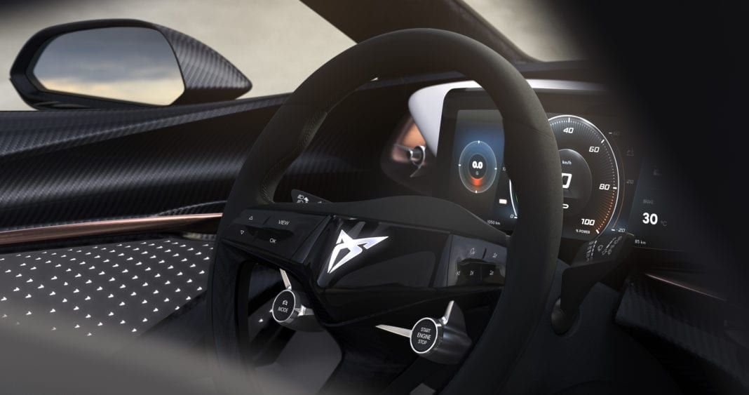 CUPRA teases the interior of all-electric concept-car