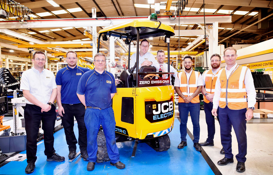 Jcb Goes Electric With First Fully Electric Excavator