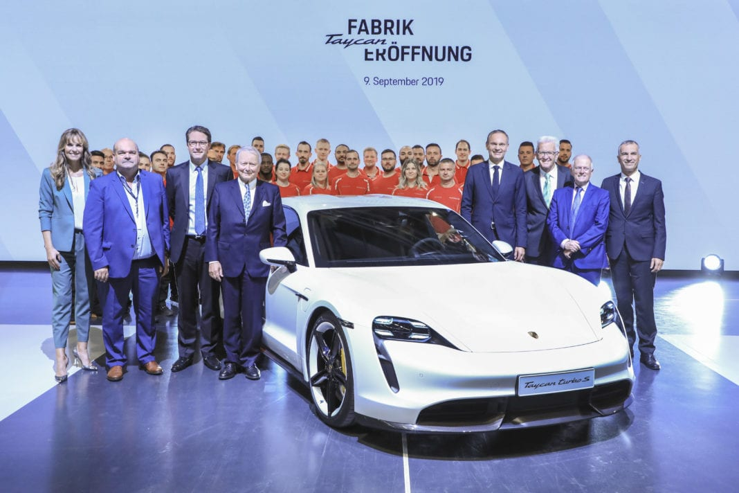 Factory opening for the Taycan in Stuttgart - Zuffenhausen
