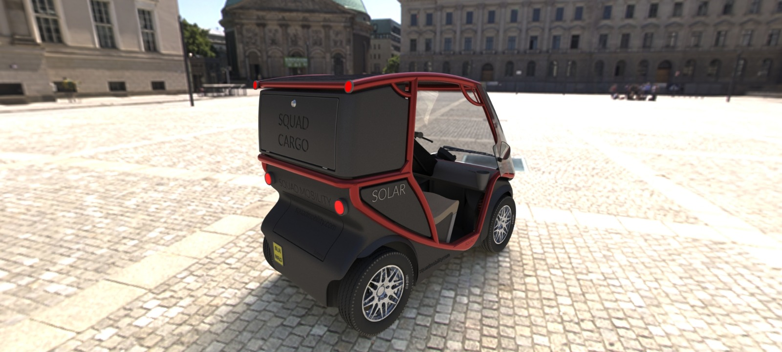 Squad Solar City Car Cargo Red Back