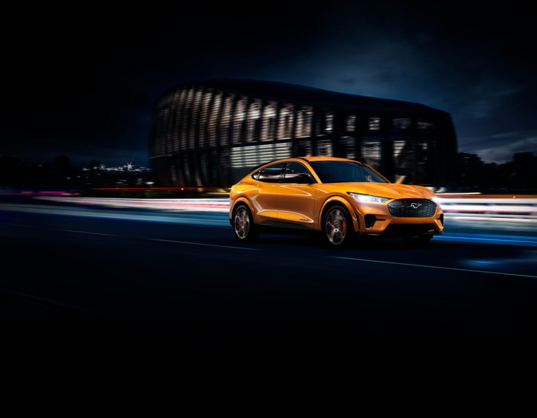 2021 Ford Mustang Mach E Cyber Orange 1