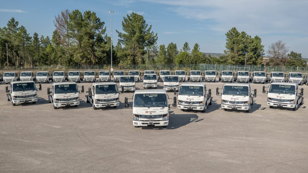 Green supply chains for Europe: DB S chenker expands its electric fleet with 36 new FUSO eCanter vehicles