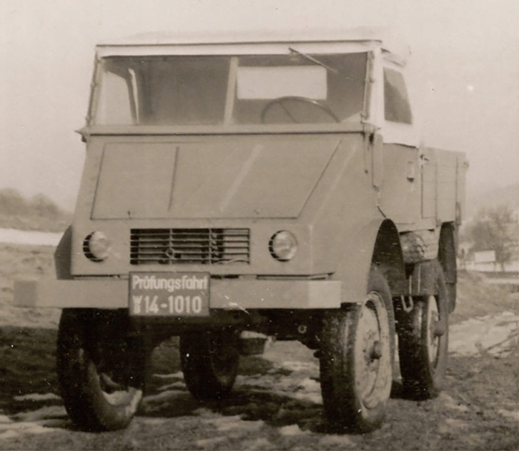 The first ready-to-drive Unimog prototype in December 1946