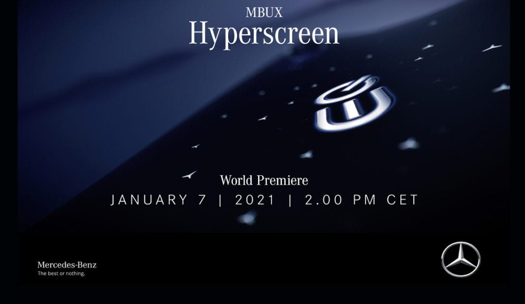 An impressive start to the new year: Mercedes-Benz unveils the MBUX Hyperscreen on January 7th on Mercedes me media