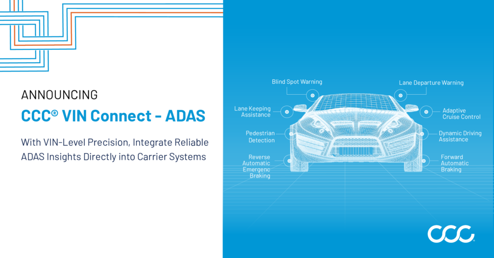 CCC Introduces Vehicle-Level ADAS Insights