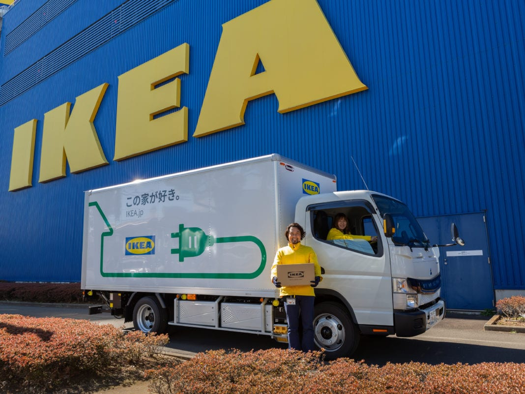 IKEA Japan uses Daimler Trucks' all-electric FUSO eCanter for home furnishing delivery
