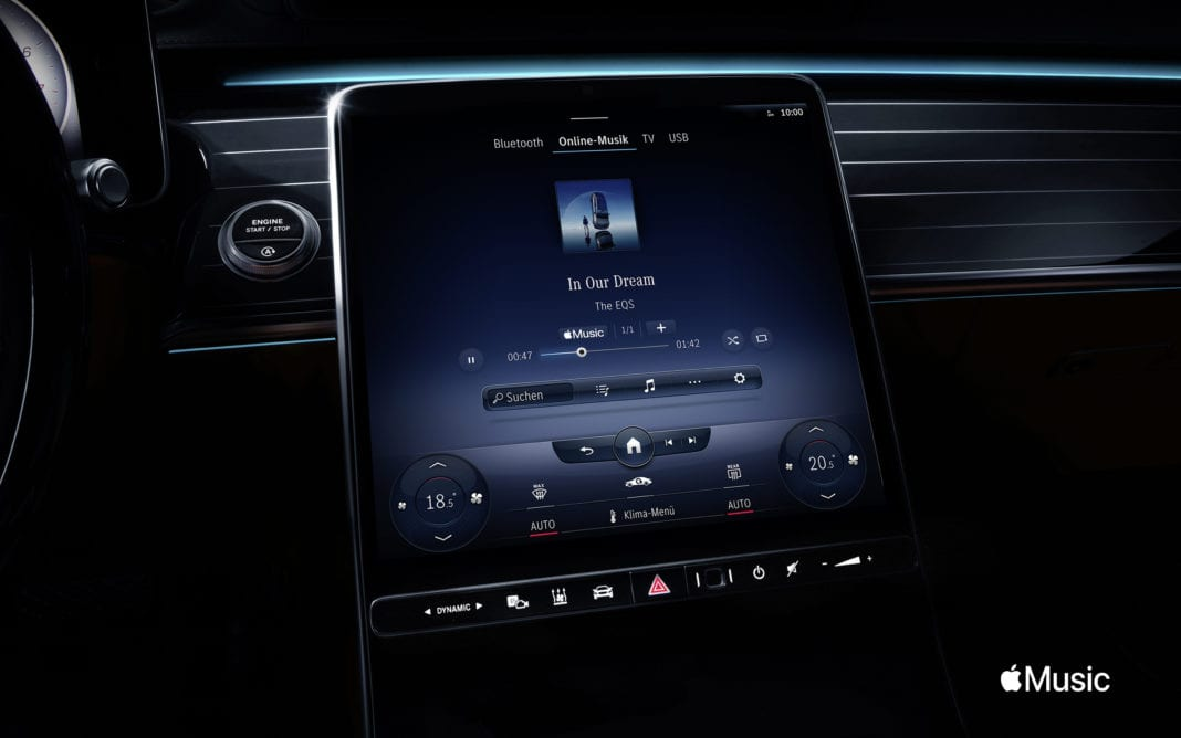 MBUX makes listening to Apple Music in Mercedes-Benz vehicles a simple, user-friendly experience