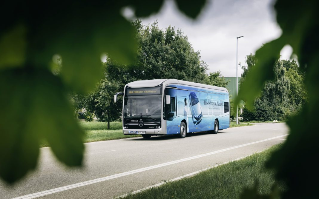 The eCitaro transports visitors to the IAA MOBILITY 2021 in Munich